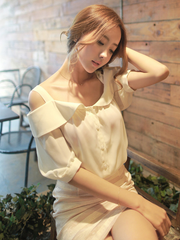 bare shoulder darling shirt