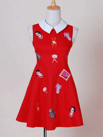 childhood memories embroidery dress