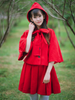 bow cape and pleated skirt set