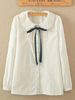 lace collar ribbon shirt