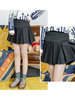 fit waist pleated mini skirt
