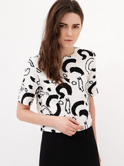 strokes printed boxy top