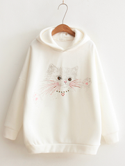 cat baby cotton hoodie