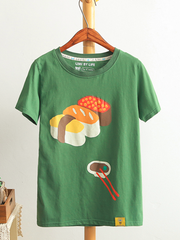 sushi yummy cartoon t-shirt