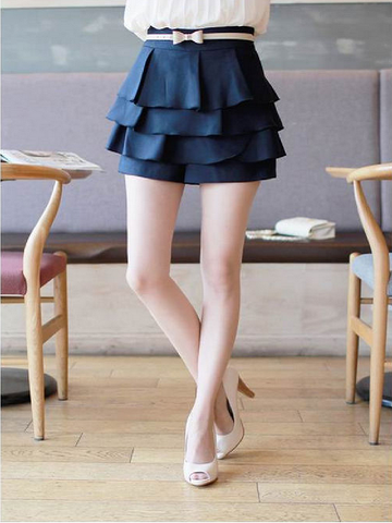 scallop layered skort