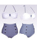 striped knot bikini set