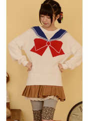 sailor moon bow sweater