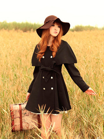 England country style wool coat
