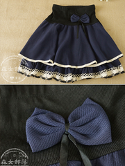 bow lace tiered skirt