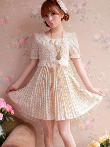 polka dotted princess dress