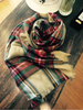 rugged plaid square scarf