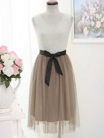 tank top tulle dress