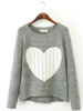sweet heart cozy sweater