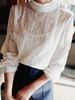 lace ruffled collar top
