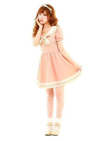 sailor dress in pink