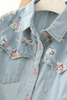 covered in roses denim shirt