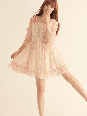 spring blossom chiffon dress