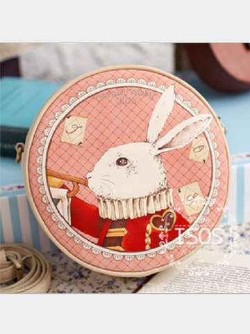 mori rabbit round bag