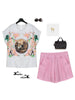 medieval garden top and shorts set