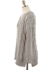 cable-knit ribbed poncho