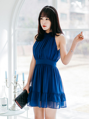 remember me high neck swing dress
