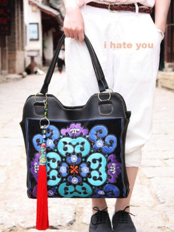 vintage embroidery shoulder bag