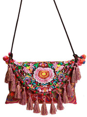 waterlily tassel crossbody