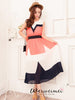 pleated neon colored long dress