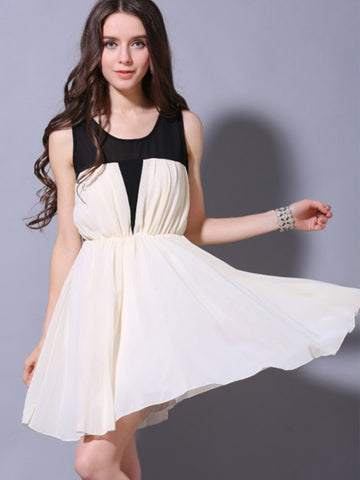 swing the night chiffon dress