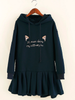 cat ears hoodie dress
