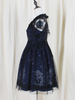 two-pieces starry lace dress