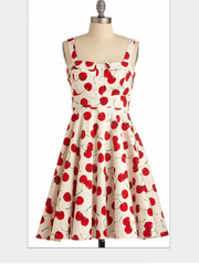 retro swing cherry dress
