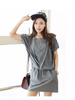 stree style hooded zipper dress