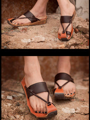 vintage style knotted sandal