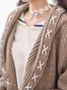 cross-laced open front cardigan