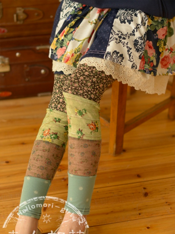 Clearance - flowers patchwork leggings