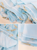 soft sky organza dress