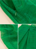 bow organza skirt in green