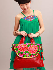 red twinflower satchel