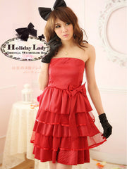 love season layered bow dress