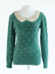 sweet sequined and dots sweater