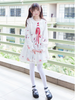 festive rabbits doll collar dress