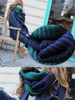 double-colored infinity scarf