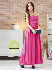 wrapped ribbon bow long dress
