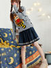 navy striped bow skirt