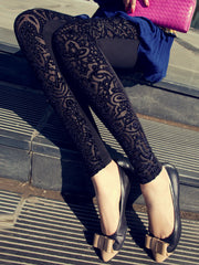 vintage pattern velvet cotton legging