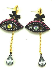 eye can see you gemstone earrings