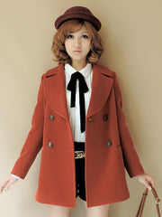 uniform double breasted wool coat