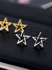 vintage star shaped earrings