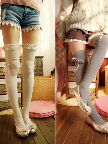 Mori girl lace tube knee socks